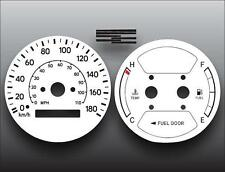 1998-2002 Chevrolet Prizm 180 METRIC KPH KMH Dash Cluster White Face Gauges