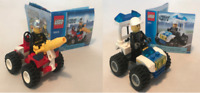 LEGO City 2 Sm Sets | Police 30013 Fireman 30010 | 100% Complete w/Mini-figures