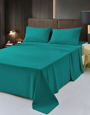 Luxury Bamboo Sheet Soft Hypoallergenic Teal Queen Deep Pocket 4 Pc Set