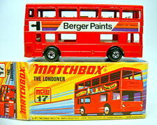 "Matchbox SF Nr.17B The Londoner rot ""Berger Paints"" 5 spoke Räder in Box"