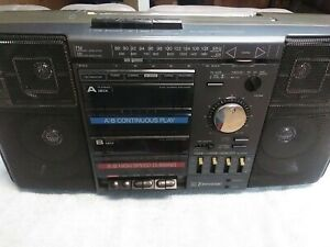 Vintage Emerson CTR961A Boombox AM/FM Cassette Stereo Ghetto Blaster 1980s- 90s