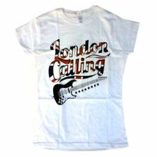 The Clash London Calling Guitar Logo Women's T-shirt Official Licensed X-Large