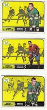 [60530] LOT OF 3 TOPPS 1968-1969 HOCKEY CARDS MINNESOTA STARS CONNELLY, LAROSE
