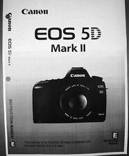 Canon Eos 5D Mark Ii Digital Camera User Instruction Guide Manual