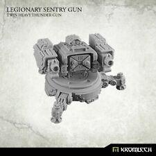 Kromlech NUOVO CON SCATOLA LEGIONARIO Sentry GUN: TWIN pesanti THUNDER GUN (1) krm089