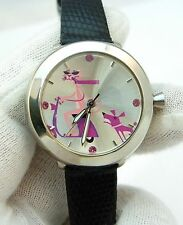 "PINK PANTHER,Rare!, SHAG artwork ""Riding Vespa"" Dial,KIDS/LADIES WATCH,493,L@@K!"