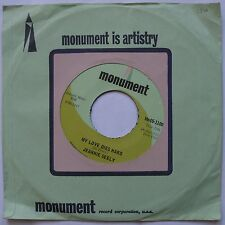 JEANNIE SELLY: MY LOVE DIES HARD monument COUNTRY 45 awesome HEAR