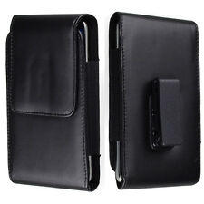 For iPhone 7 / 8 Plus Black PU Leather Holster Belt Clip Case Vertical Pouch