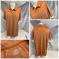 Nike Golf Tour Performance Polo Shirt XL Men Texas Orange DriFit Mint YGI C0-546