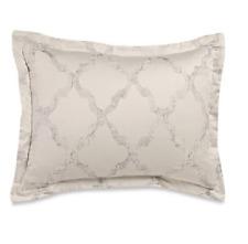 New Vera Wang Home King Pillow Sham Fretwork 100% Cotton Print Cream $195