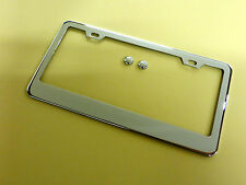 1 PLAIN/BLANK STAINLESS STEEL CHROME METAL LICENSE PLATE FRAME TAG *bui1c