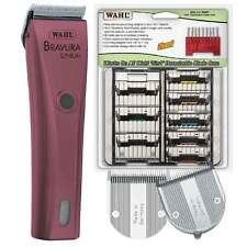 "Bravura Lithium Ion ""Pink"" Clipper 8 Piece Kit Inc 5 in 1 Attachment Comb Set"