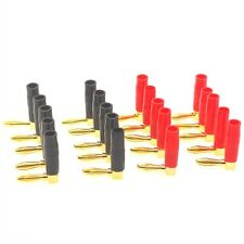 20 pcs Gold Plated L-Type 90 Degree Banana Connectors Plug Screw Lock Cable Wire
