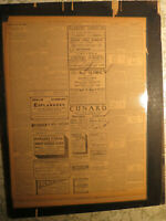 Titanic Sister Ship Olympic Sailing Ad Newspaper 1913 + Other Ship & Bermuda