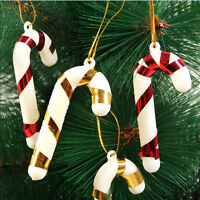 Christmas Candy Cane Ornaments Party Xmas Tree Hanging Decoration Decor 6pcs EF