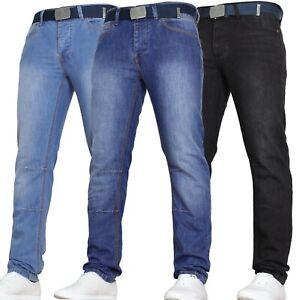Mens Slim Fit Jeans Basic Work Heavy Duty Pants by Von Denim