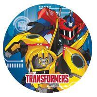 Pack 8 Transformers Optimus Prime Abejorro Robots Platos de Papel para Fiesta