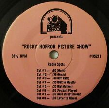 """""""ROCKY HORROR PICTURE SHOW"""" 20th CENTURY FOX 7"""" RADIO SPOTS 33 1/3-RARE!!"""