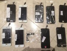 Lot of 17 Working & Broken iPhone 4, 4s, 5, 5c, 5s Screens LCD Backlight + More