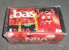 NBA 1997 - 98 Upper Deck NBA Stickers Sealed Box - 100 Packs 600 stickers - Rare
