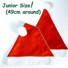 Children's Red Felt Christmas Santa Hat Xmas Kids Fancy Dress Costume GTL