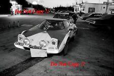 Sandro Munari Lancia Stratos HF ganador cobraba lagos fotografía Rally 1974 1