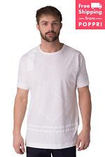 DIESEL BLACK GOLD Size XS TIGI-STELLAR-LF Geometric Print Crew Neck T-Shirt Top