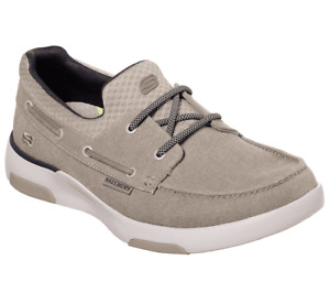 Skechers Bellinger Garmo Boat Shoe Mens Size 8.5, 9.5, 10.5  Taupe  NEW