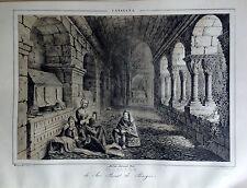 CATALUÑA, SAN BENET DE BAGÉS,Parcerisa 1839-1865