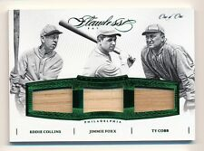 2016 Flawless * JIMMIE FOXX * COLLINS * TY COBB * Triple Game Used Bat * #1/1