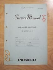 Original Pioneer Service Manual for the QX-4000 Receiver ~ mp