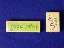 Posh Impressions Streamers Confetti good luck ! Party Fun Celebrate Rubber Stamp