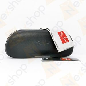 Rayban Sunglasses Eyeglasses Optical Hard Case with Cleaning Cloth - Black