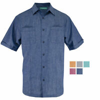 Cubavera Short Sleeve Pin-tuck Two Pocket Woven Sport Shirt