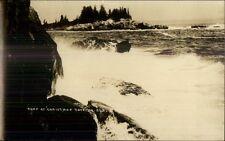 Surf at Christmas Cove ME c1920s Real Photo Postcard