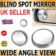 """2x BLIND SPOT MIRROR ROUND ADHESIVE 2"""" INCH EASY FIT WIDE VIEW ANGLE VAN."""