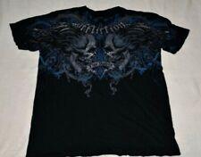 Affliction Mens Size 2XL XXL Signature Tim Sylvia Short Sleeve T Shirt Skull