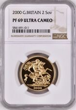 2000 Gold Proof £2 (2 Sovereign, Two Pounds) NGC Graded PF69 Ultra Cameo.