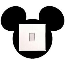 Black Mickey Mouse Light Switch High Quality Premium Vinyl Decal Car Sticker