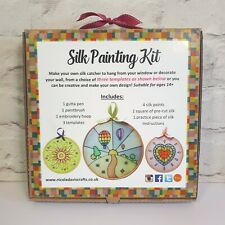 Adults and Children's Silk Painting Kit, Learn to silk paint, DIY Crafts Kit