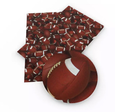 Football faux leather fabric sheet /full or 1/2 sheet