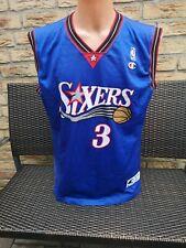 Philadelphia 76ers Sixers Trikot NBA Iverson Champion Jersey Shirt Maillot L 46