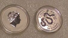 "Australian Lunar II ""Year of the Snake"" 2013, 1/2 Oz Silver coin"