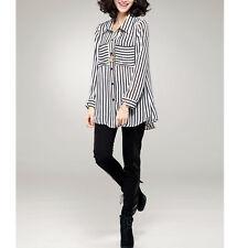 Black White Stripe Shirt Size 10