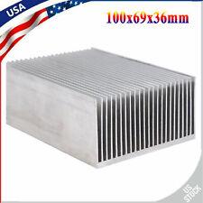 Aluminum Heatsink Heat Sink Cooling Radiator for High Power Amp 100x69x36mm Usa