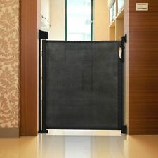 Safetots Advanced Retractable Stair Gate Premium Folding Baby Safety Guard Black
