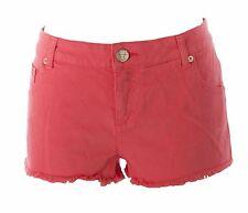 TOPSHOP MOTO  Women's Coral Denim Cutoff Hotpants 02Z13A US Size 8 $55 NEW