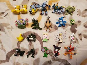 Digimon 21 Mini Figure Lot RARE H-T Bandai (Lucemon,Impmon,Duskmon,Cerberusmon)