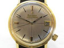 Men's Vintage Swiss BULOVA Accutron 218 Tuning Fork Gold Plated Wristwatch Watch