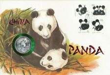 Numisbrief Numiscover China Panda 1989 Silber Unze 999/1000 Grossformat